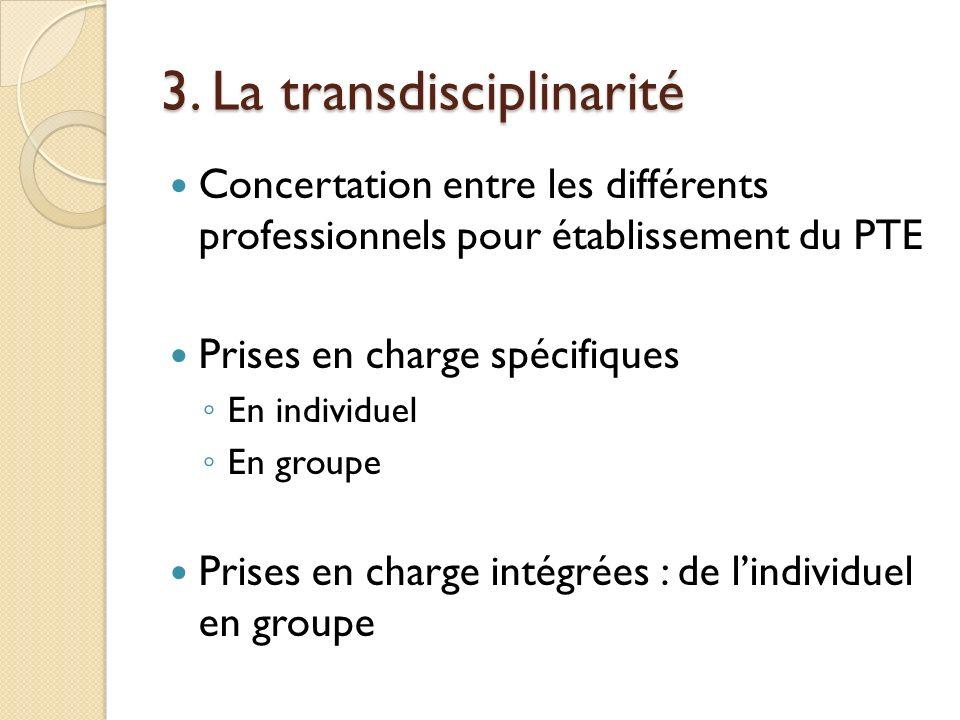 3. La transdisciplinarité
