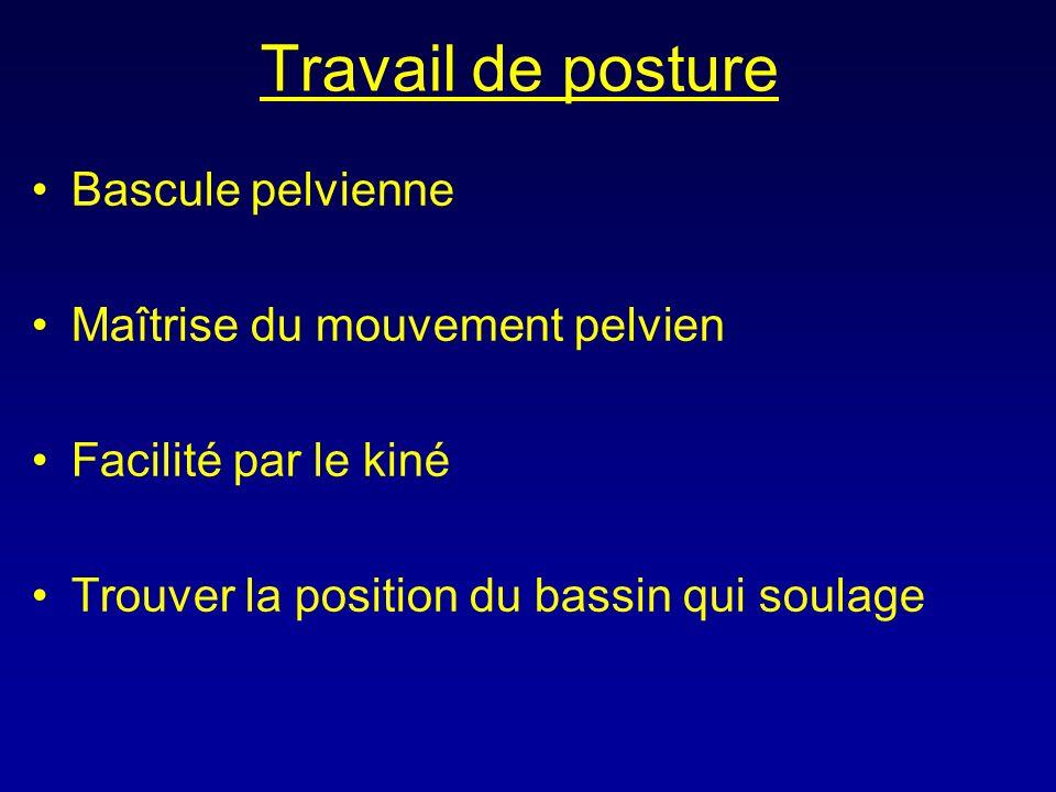 Travail de posture Bascule pelvienne Maîtrise du mouvement pelvien