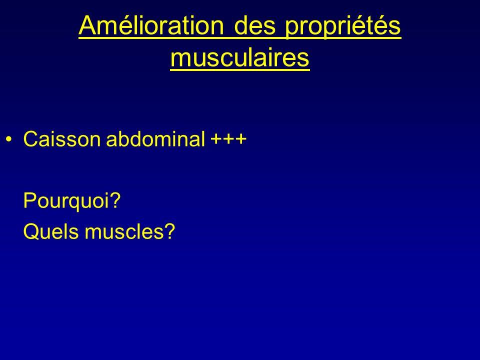 Amélioration des propriétés musculaires