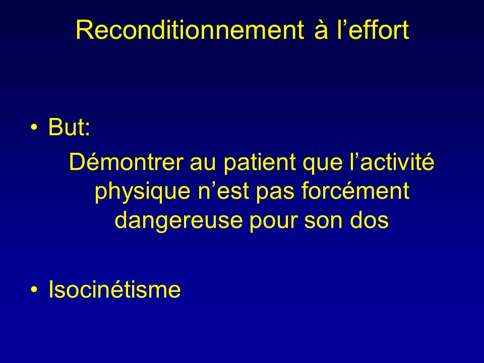 Reconditionnement à l'effort