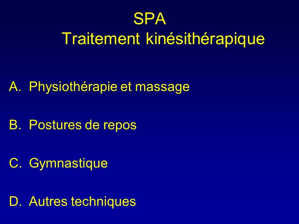 SPA Traitement kinésithérapique
