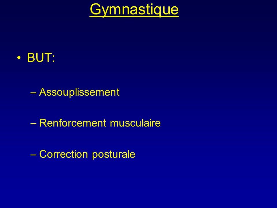 Gymnastique BUT: Assouplissement Renforcement musculaire
