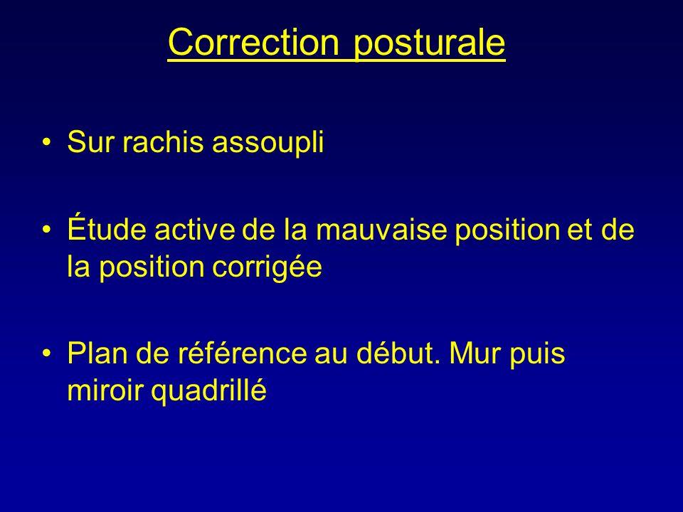 Correction posturale Sur rachis assoupli