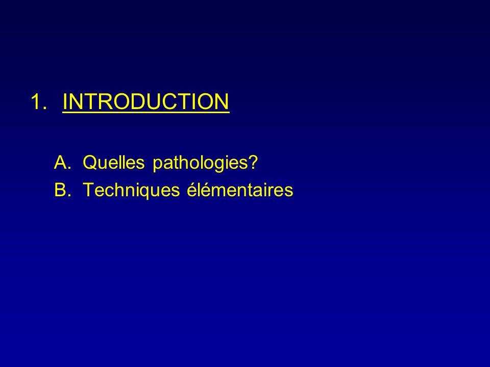 INTRODUCTION Quelles pathologies Techniques élémentaires