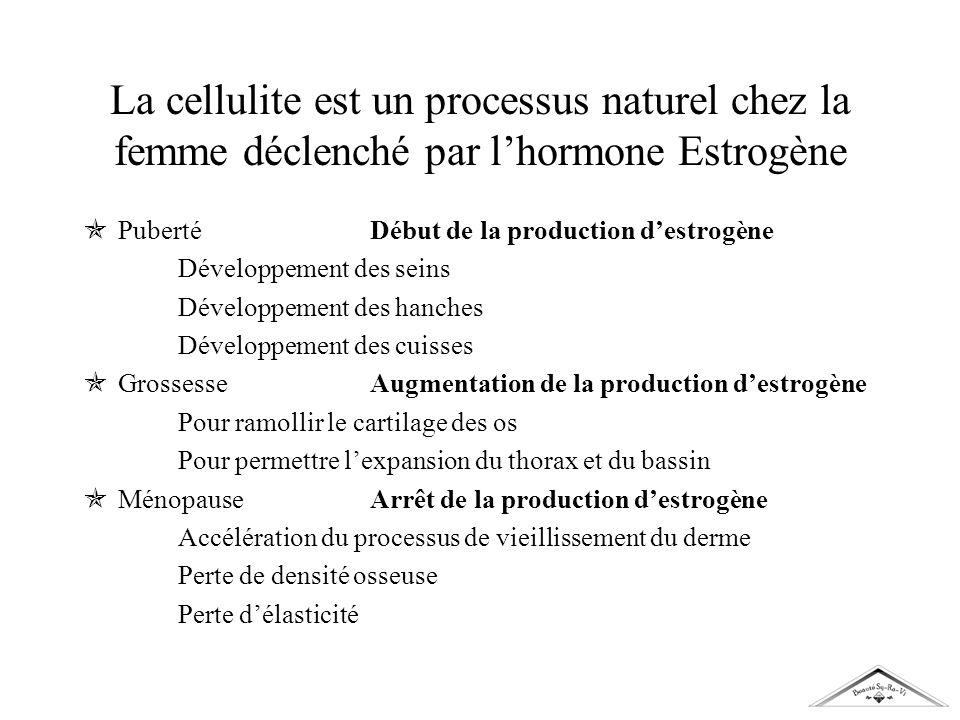 La cellulite est un processus naturel chez la femme déclenché par l'hormone Estrogène