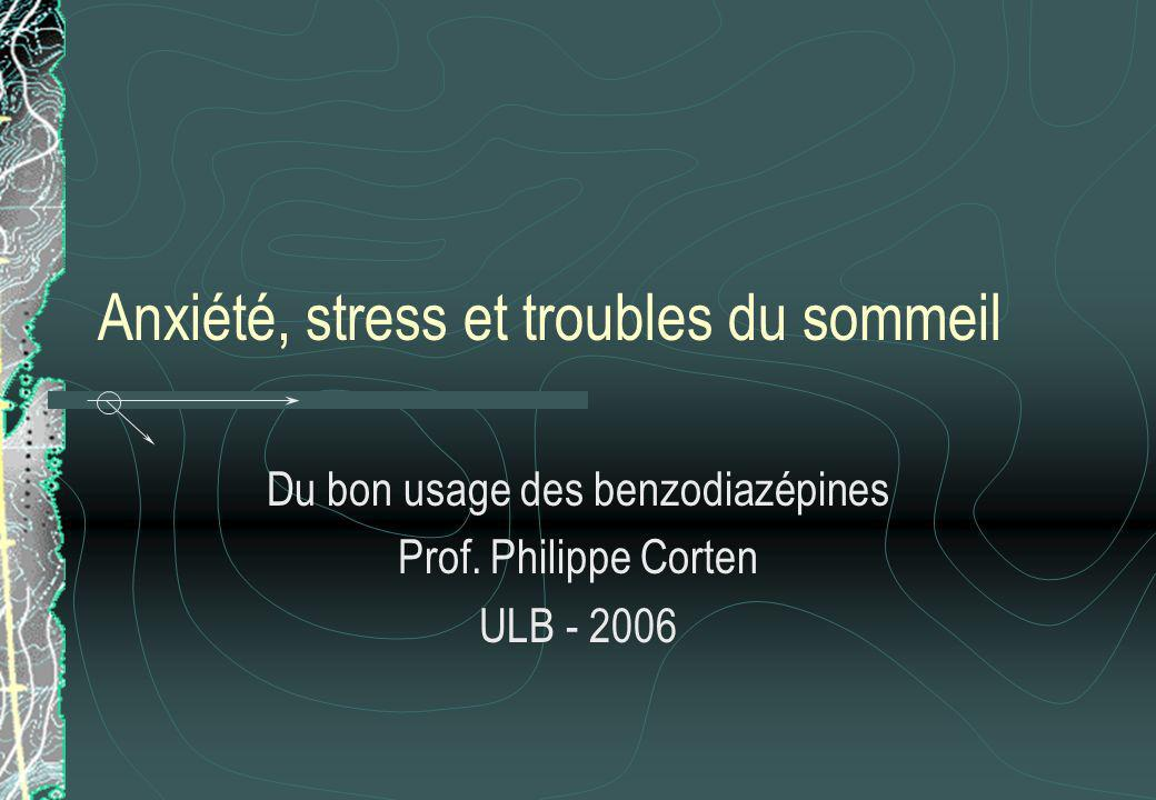 Anxiété, stress et troubles du sommeil