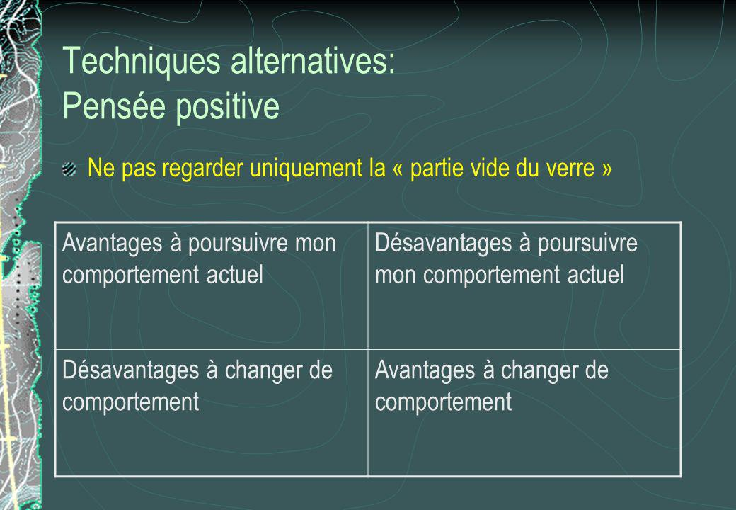 Techniques alternatives: Pensée positive