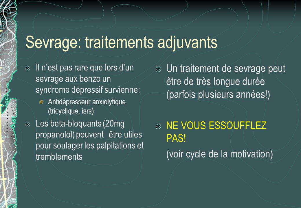 Sevrage: traitements adjuvants
