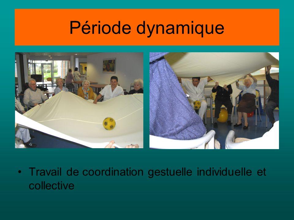 Période dynamique Travail de coordination gestuelle individuelle et collective