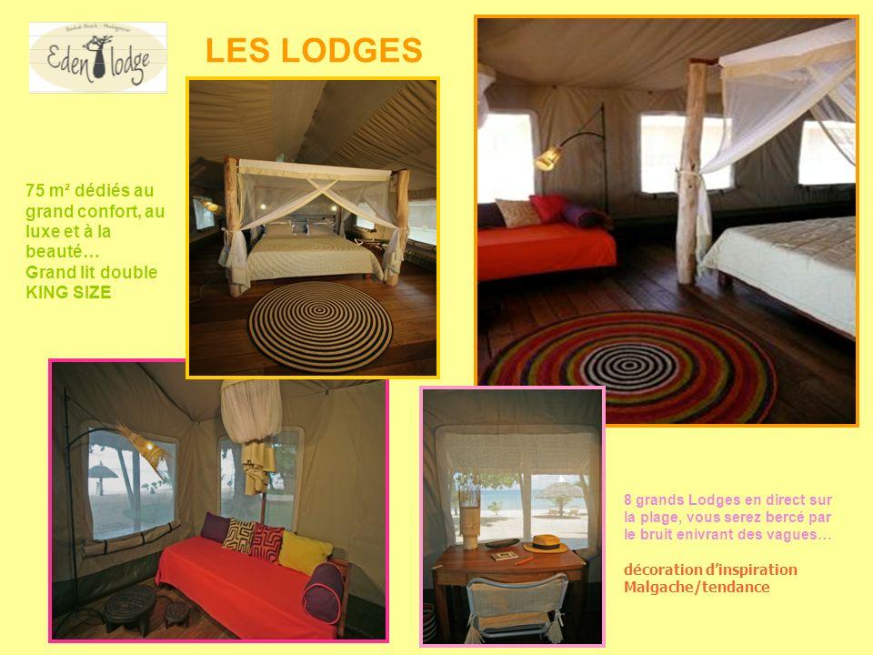 LES LODGES 75 m² dédiés au grand confort, au luxe et à la beauté…