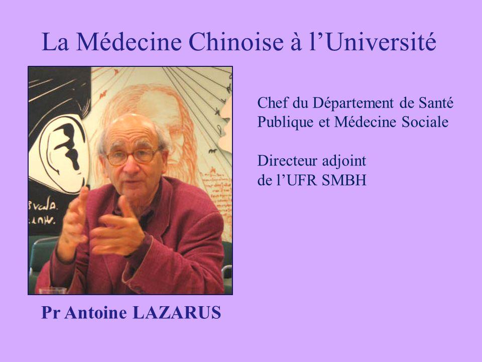 La Médecine Chinoise à l'Université