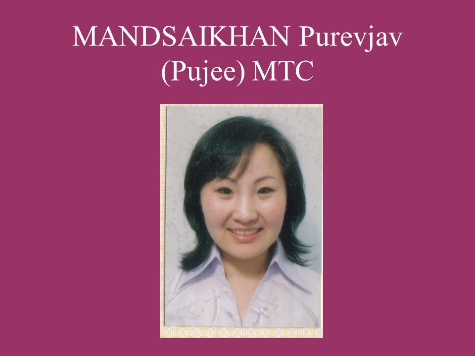 MANDSAIKHAN Purevjav (Pujee) MTC