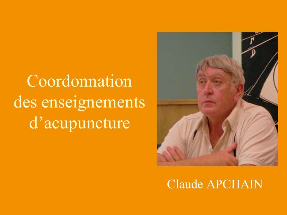 Coordonnation des enseignements d'acupuncture