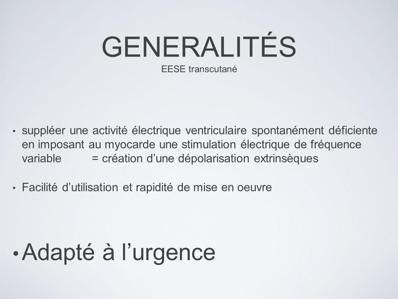 GENERALITÉS EESE transcutané