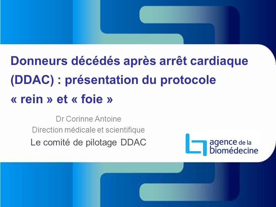 Donneurs décédés après arrêt cardiaque (DDAC) : présentation du protocole « rein » et « foie »