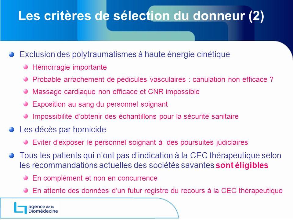 Les critères de sélection du donneur (2)