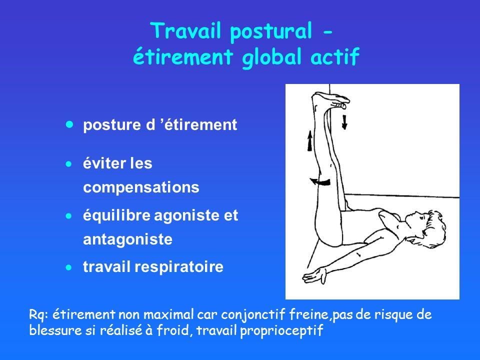 Travail postural - étirement global actif