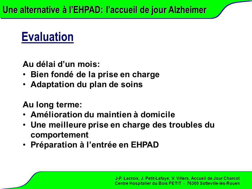 Evaluation Une alternative à l'EHPAD: l'accueil de jour Alzheimer