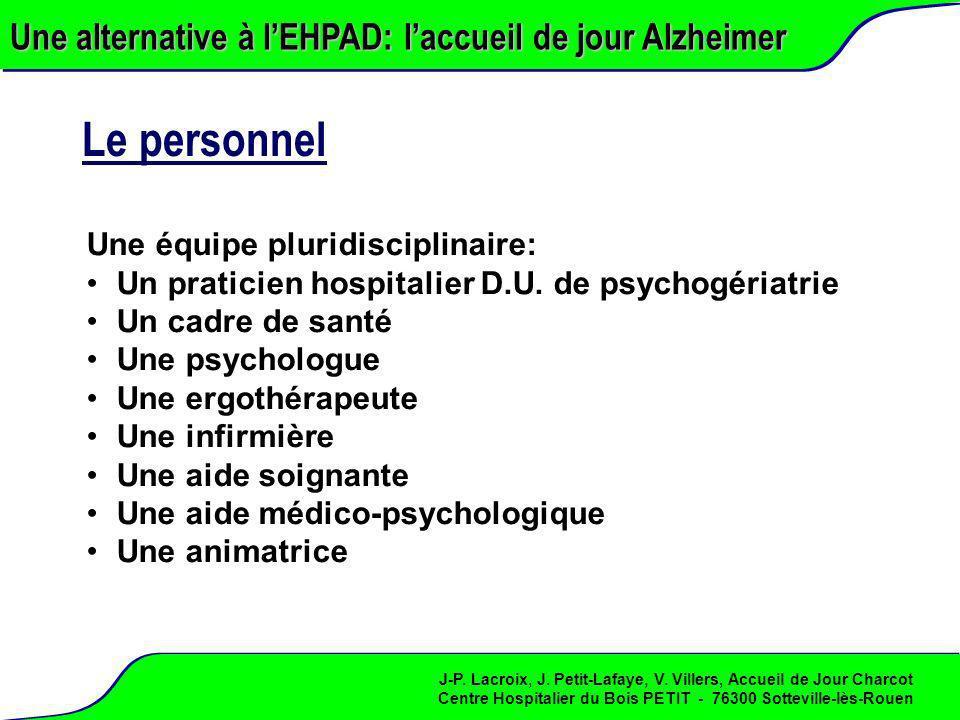 Le personnel Une alternative à l'EHPAD: l'accueil de jour Alzheimer