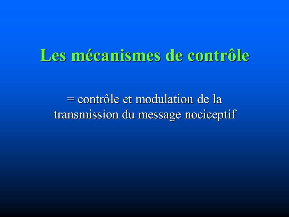 Les mécanismes de contrôle
