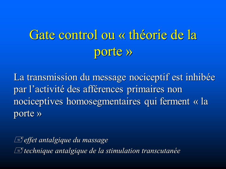 Gate control ou « théorie de la porte »