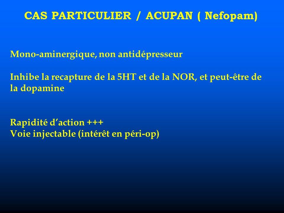 CAS PARTICULIER / ACUPAN ( Nefopam)