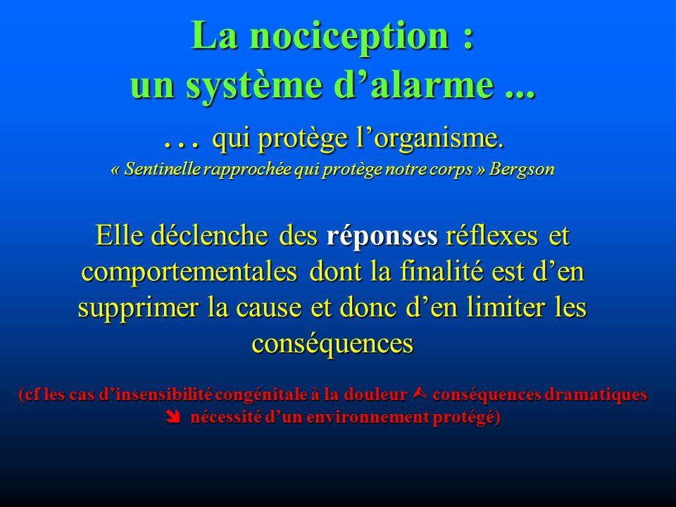 La nociception : un système d'alarme. … qui protège l'organisme