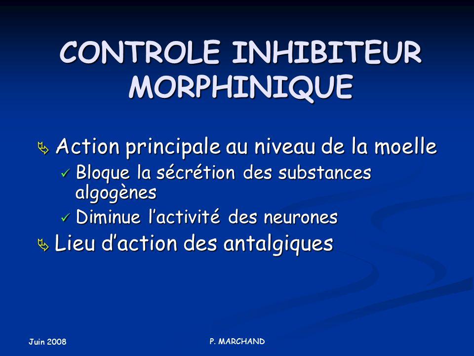 CONTROLE INHIBITEUR MORPHINIQUE