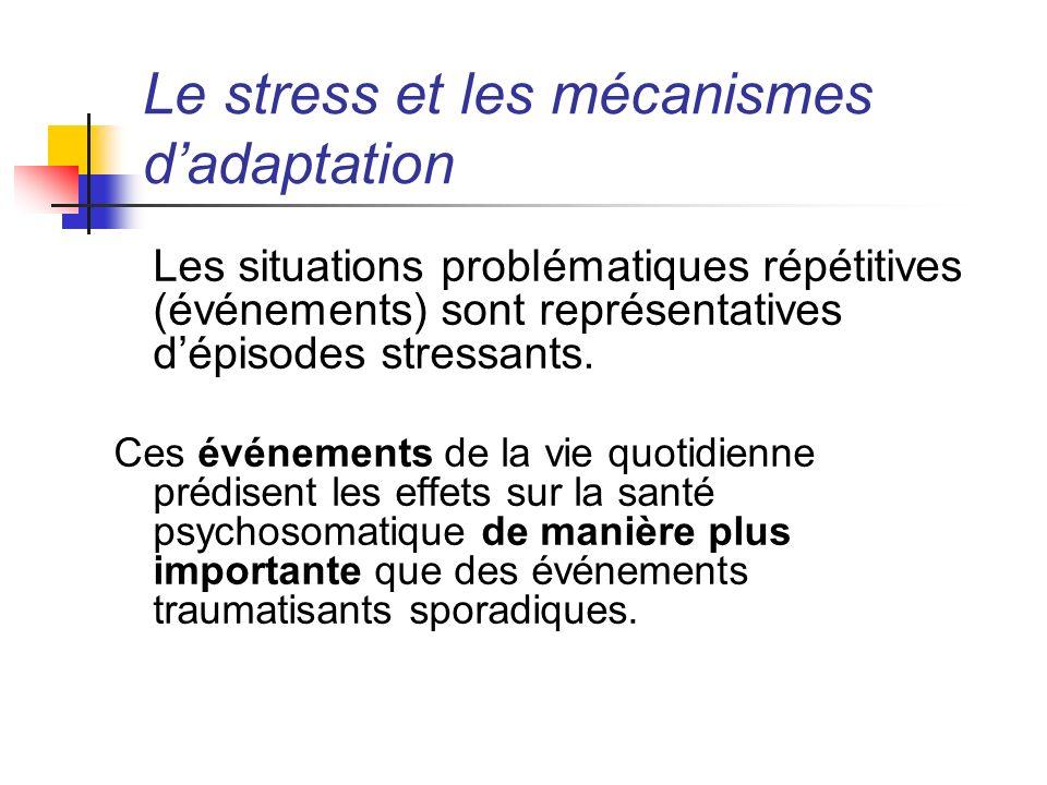 Le stress et les mécanismes d'adaptation