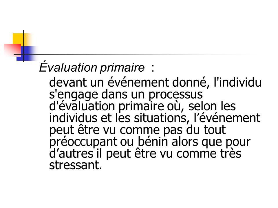 Évaluation primaire :