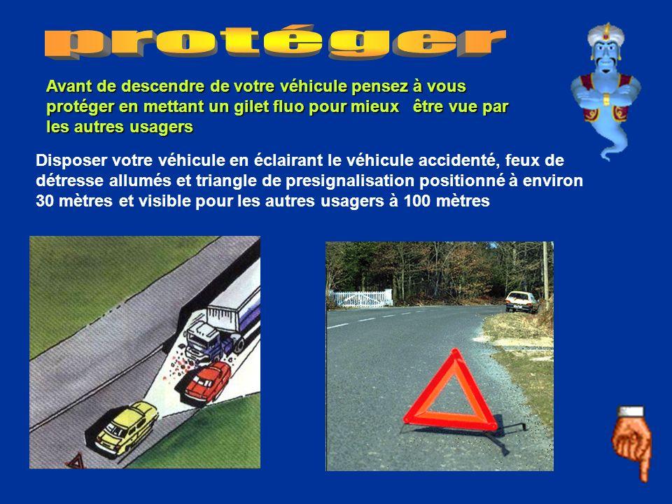 protéger Avant de descendre de votre véhicule pensez à vous protéger en mettant un gilet fluo pour mieux être vue par les autres usagers.