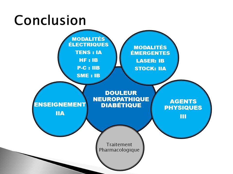 Conclusion Douleur Neuropathique Diabétique Agents Physiques