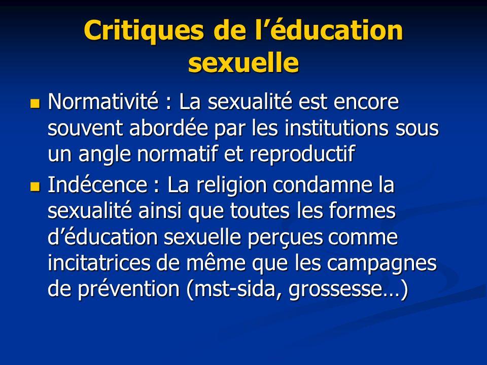 Critiques de l'éducation sexuelle