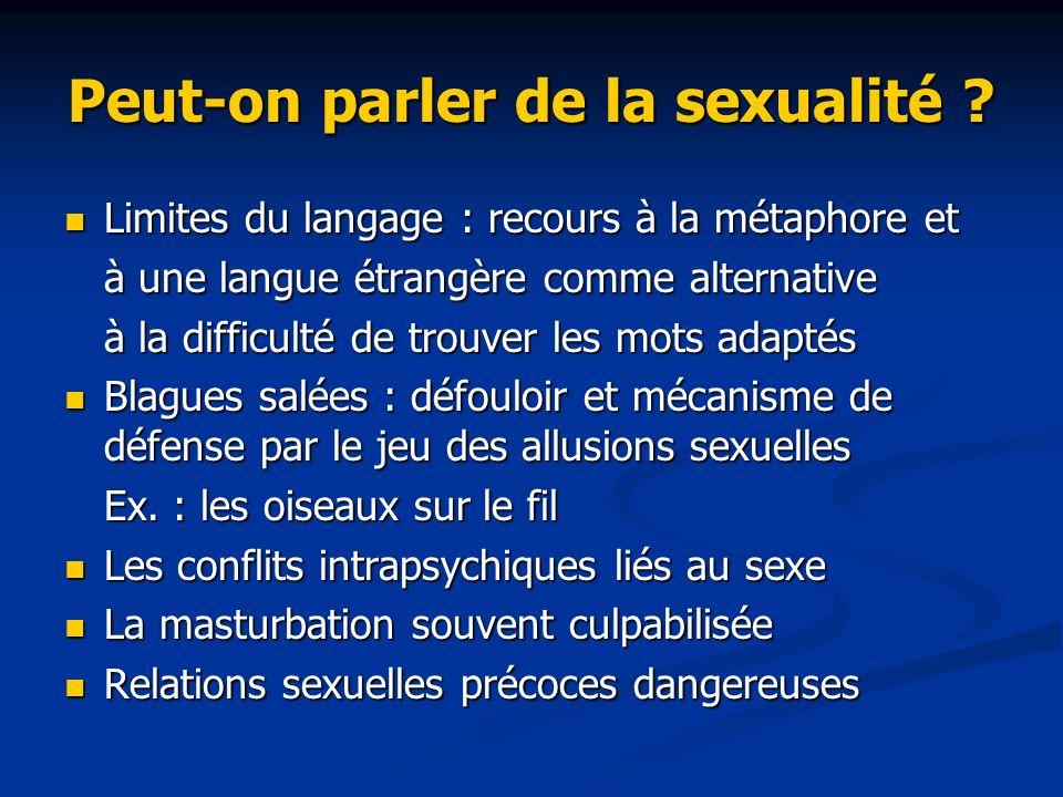 Peut-on parler de la sexualité