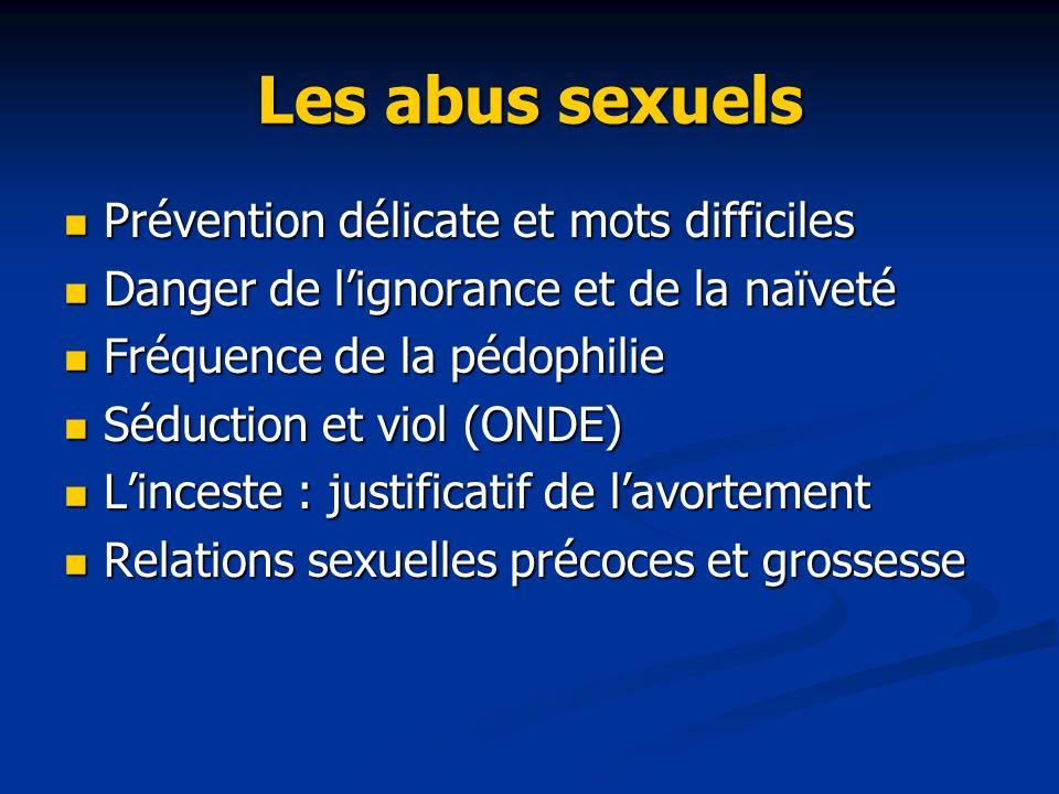 Les abus sexuels Prévention délicate et mots difficiles