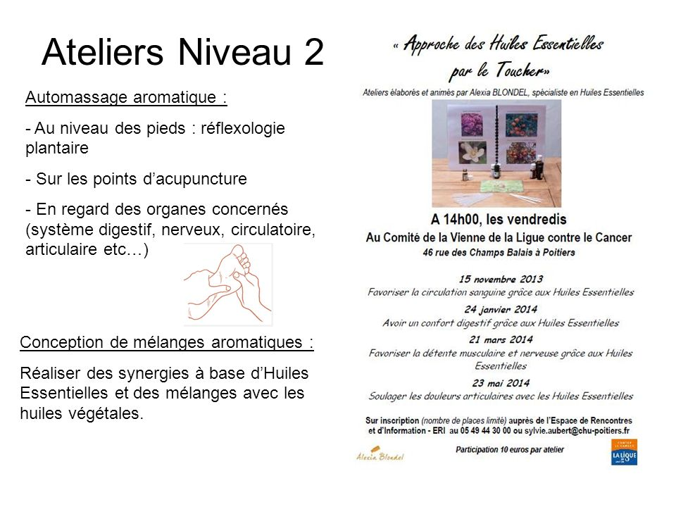 Ateliers Niveau 2 Automassage aromatique :