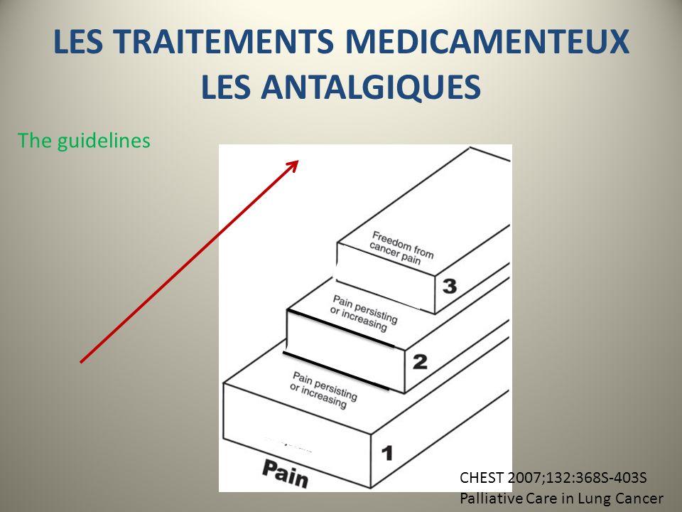 LES TRAITEMENTS MEDICAMENTEUX LES ANTALGIQUES