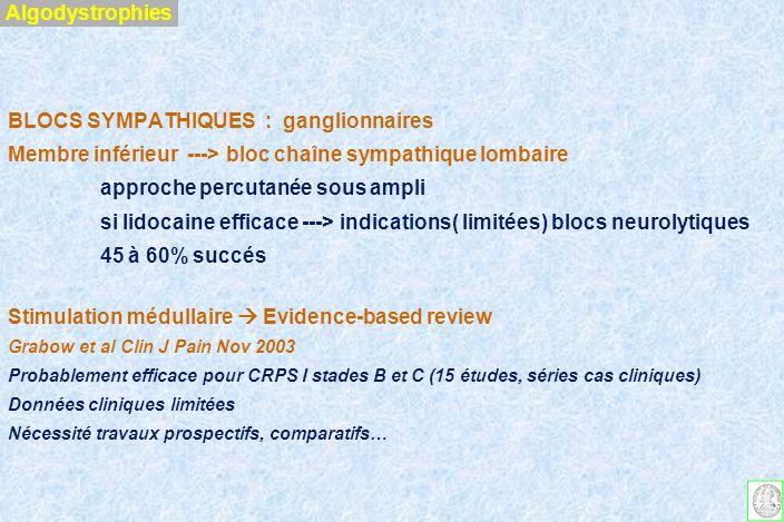 BLOCS SYMPATHIQUES : ganglionnaires