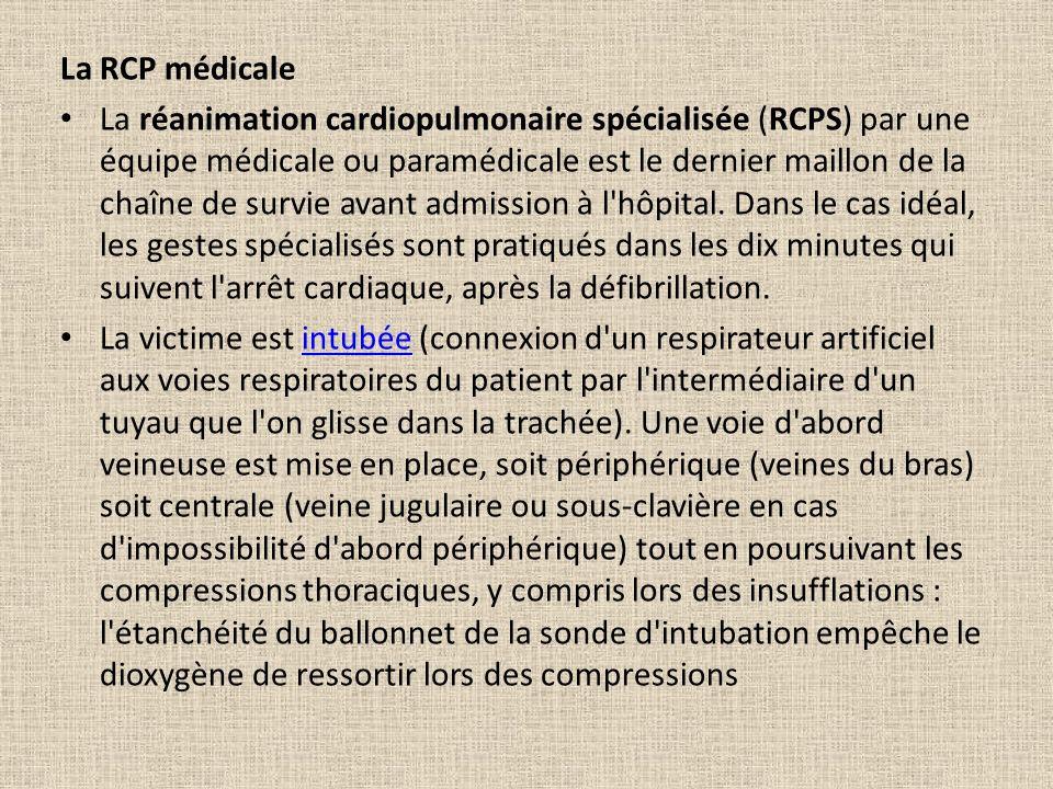 La RCP médicale