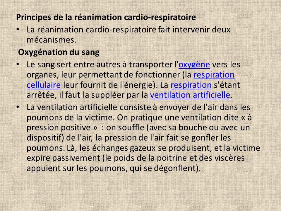 Principes de la réanimation cardio-respiratoire