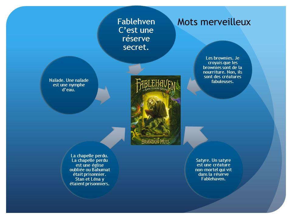 Mots merveilleux Fablehven C'est une réserve secret.