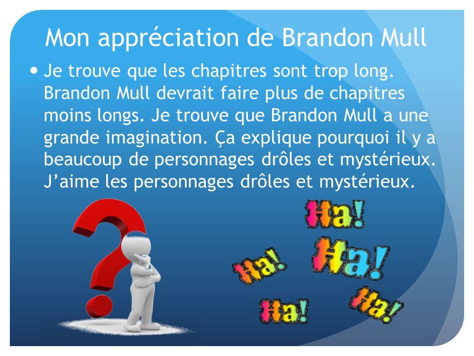 Mon appréciation de Brandon Mull