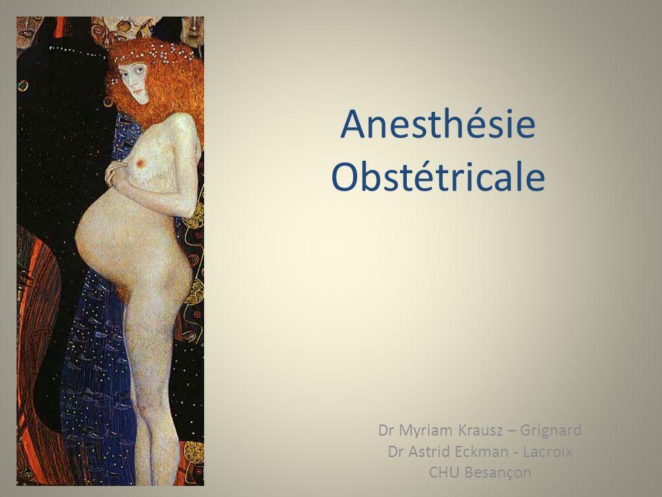 Anesthésie Obstétricale