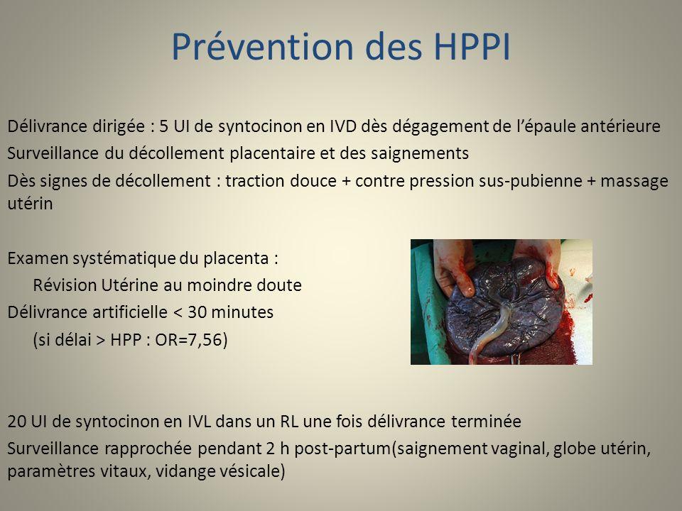 Prévention des HPPI