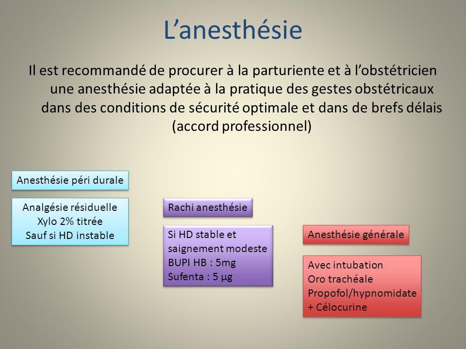L'anesthésie