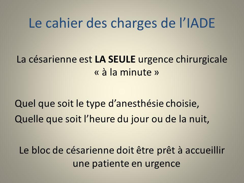 Le cahier des charges de l'IADE