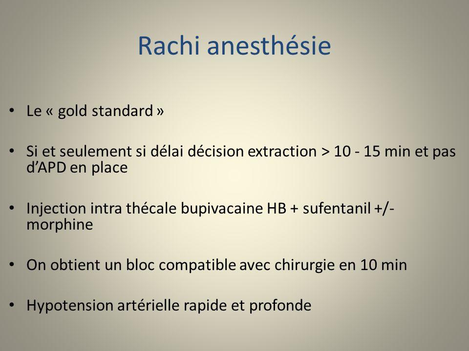 Rachi anesthésie Le « gold standard »