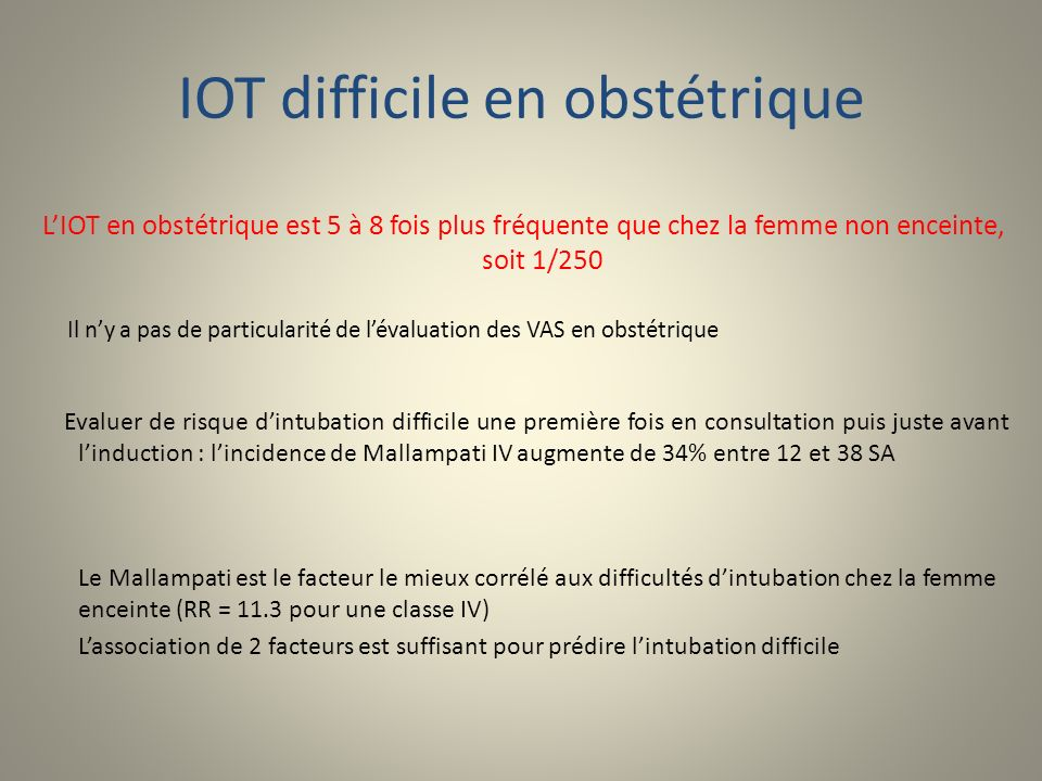 IOT difficile en obstétrique