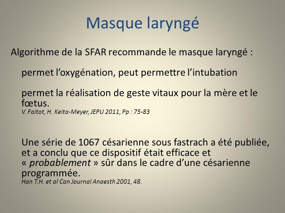 Masque laryngé