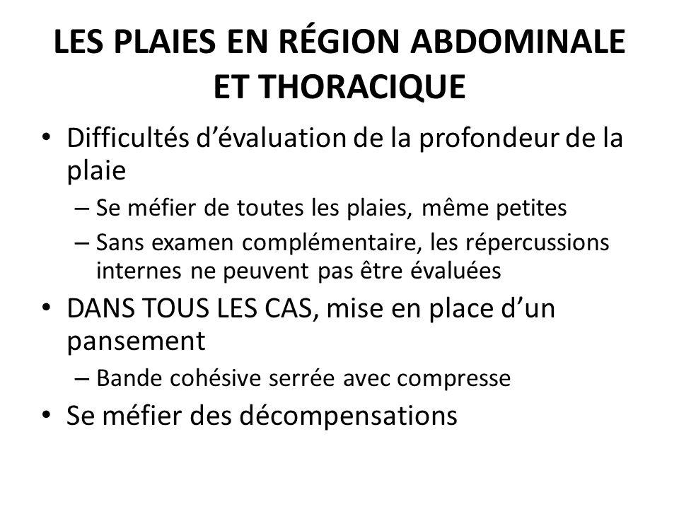 Les plaies en région abdominale et thoracique